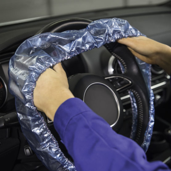 Mehrfach-Lenkradschutz mit Gummizug