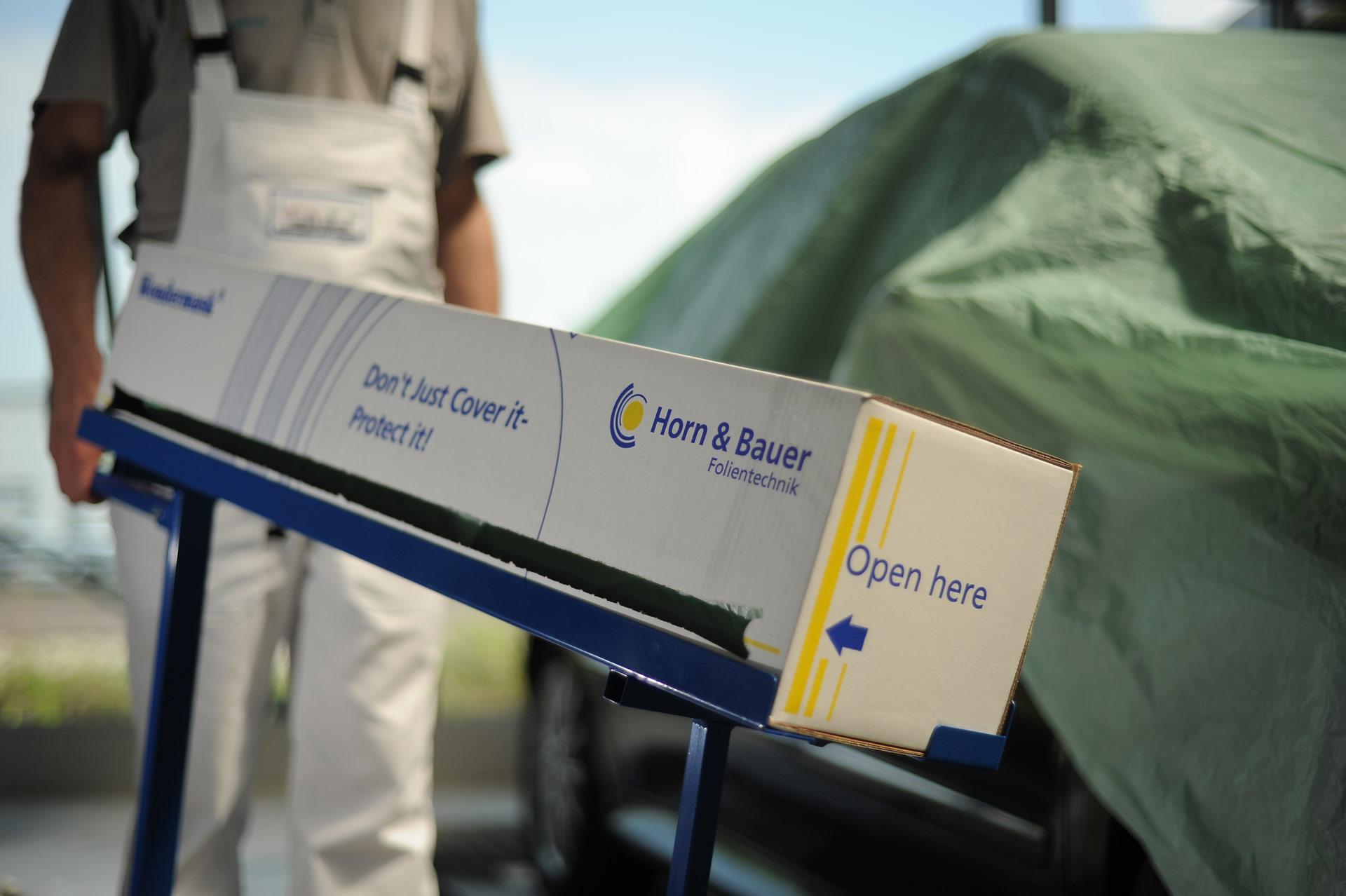 Horn & Bauer: Tipps beim Abdecken – Lackierfolie